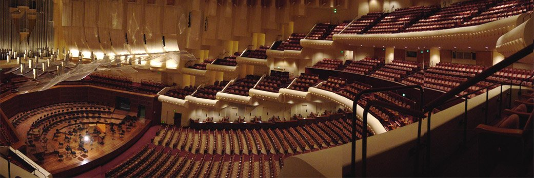 The symphony hall features 2,743 seats.