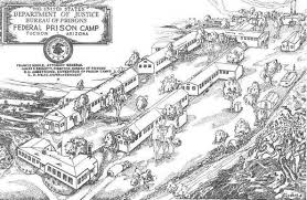 Blueprints for Catalina Federal Honor Camp. This is what the camp would of looked like while it was in use.