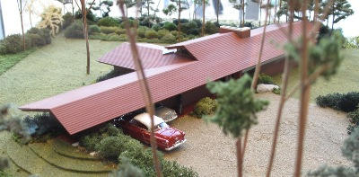 A model of Wright's Zimmerman House.