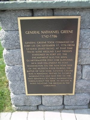 Photograph of the General Nathaniel Greene Historical Marker.
