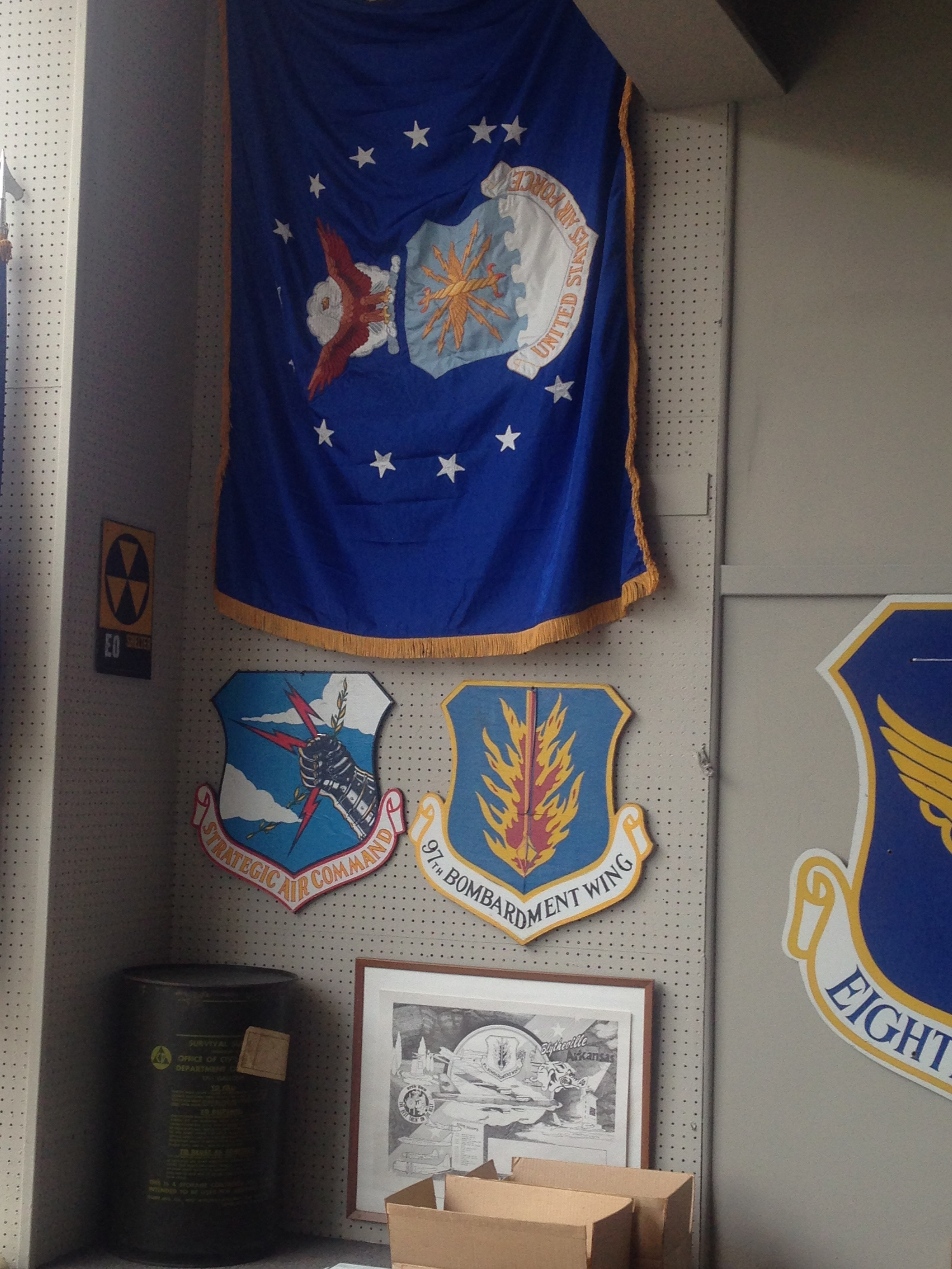 Air Force memorabilia from the Delta Gateway Museum in Blytheville, AR