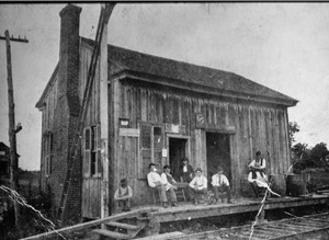The Big Shanty train depot, circa 1870, were many travelers visited while stopping in town.