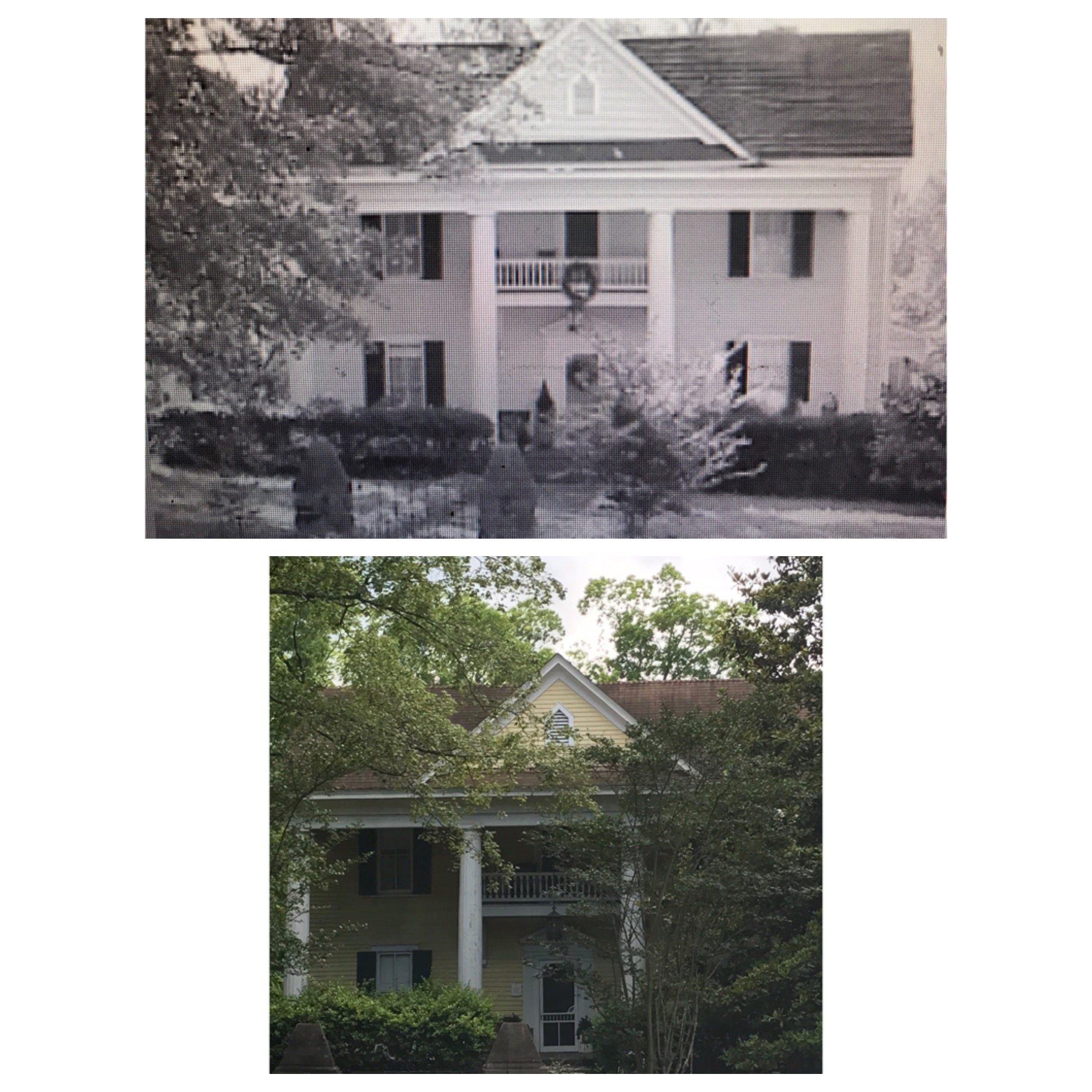 A comparison of an earlier photo taken of the Lemon House versus today.