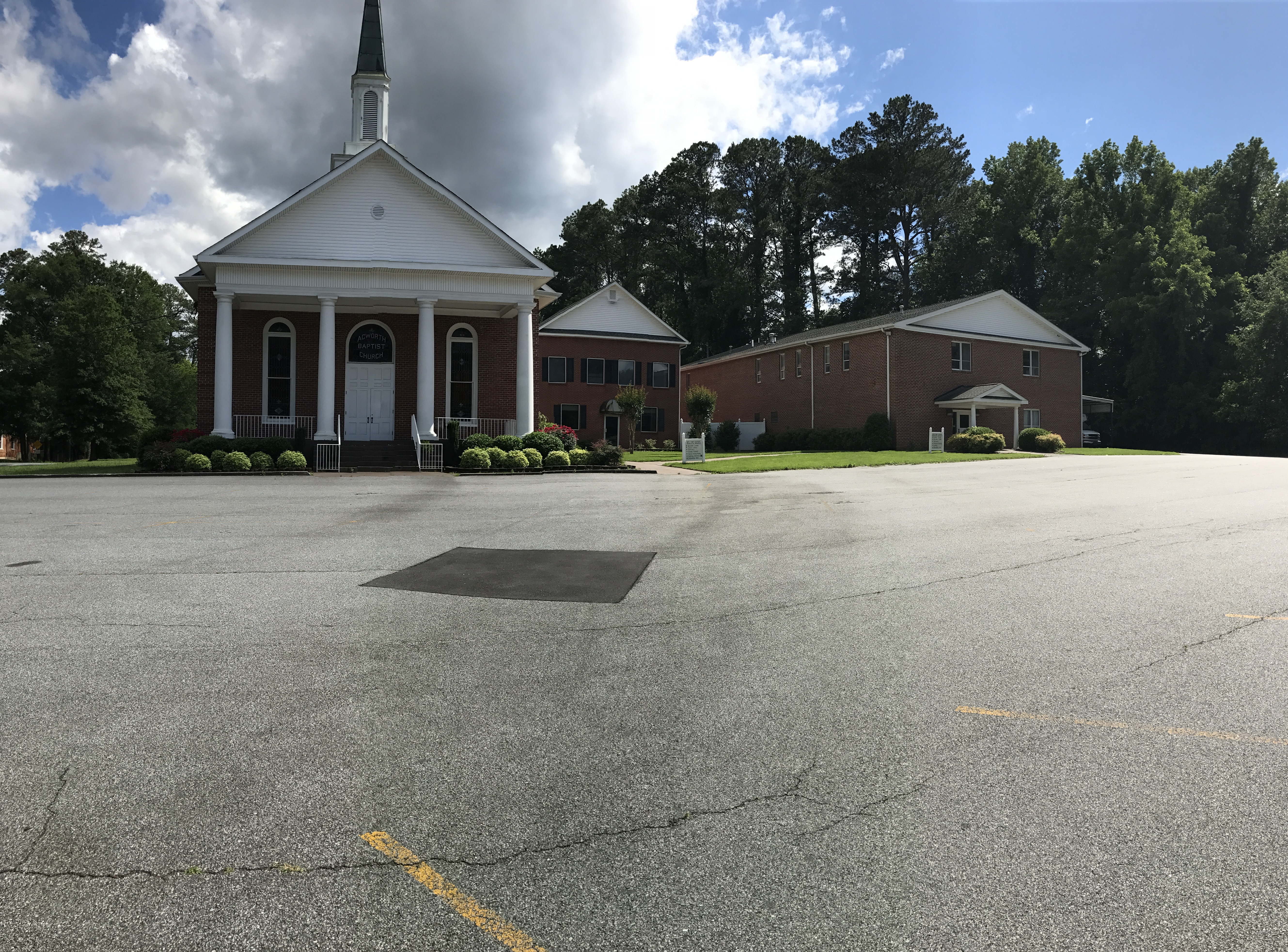 Pictured is Acworth Baptist Church.