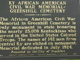 Plaque commemorating African American Civil War soldiers.