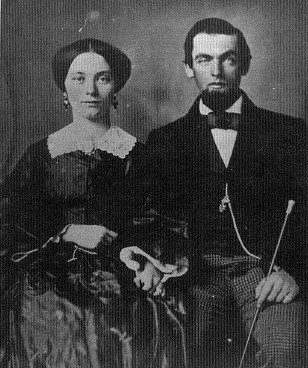 John Casement and Frances Jennings on their wedding day, October 15, 1857