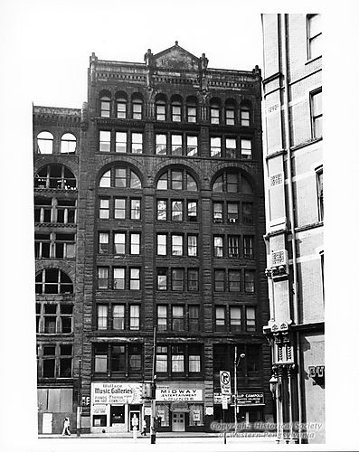 The Ewart Building prior to being renovated.  Notice the layer of soot that coated many Pittsburgh buildings at the time.