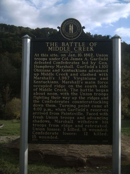 This historic marker is located near the highway
