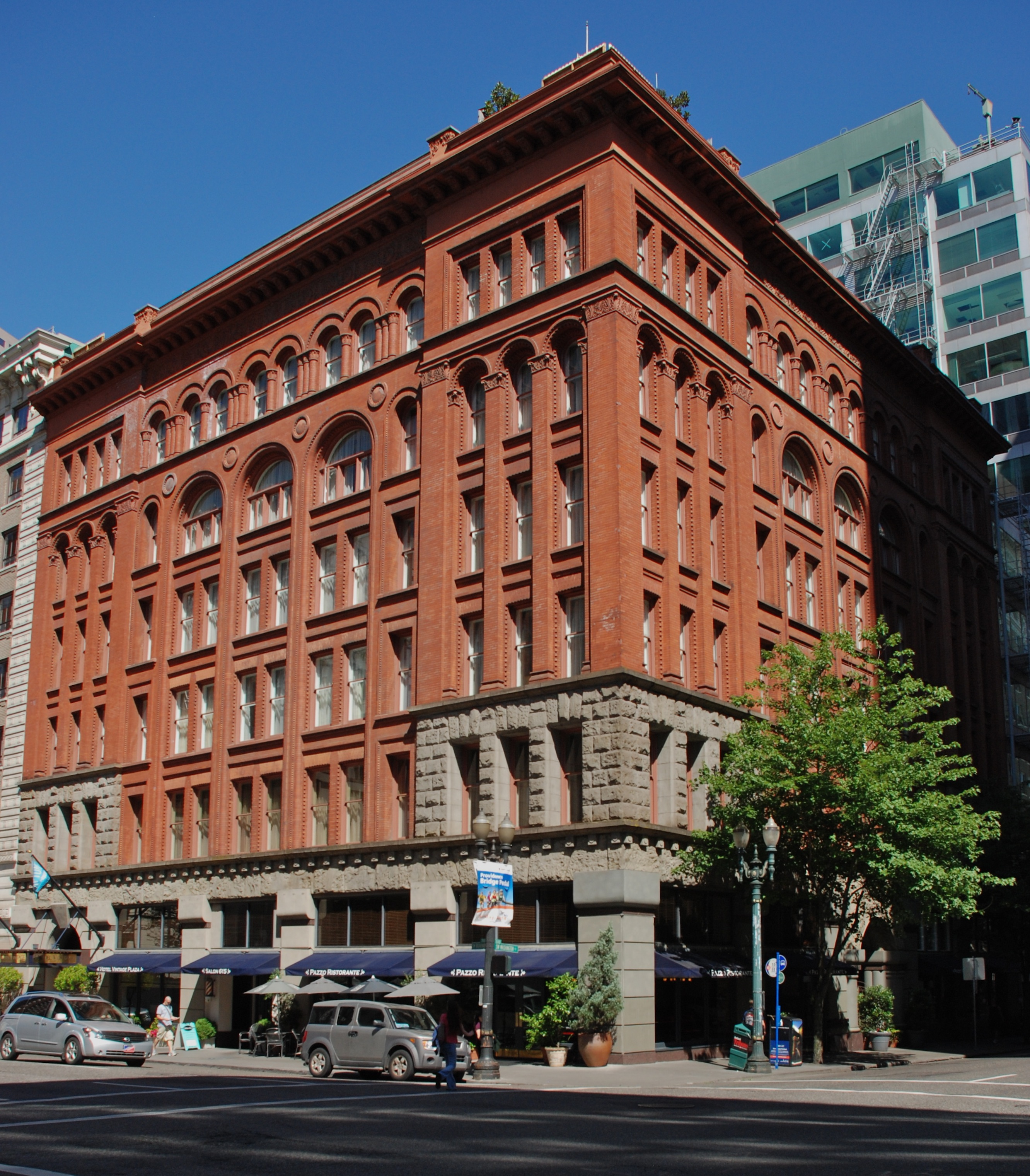 Completed in 1894, this historic building continues to serve as a hotel