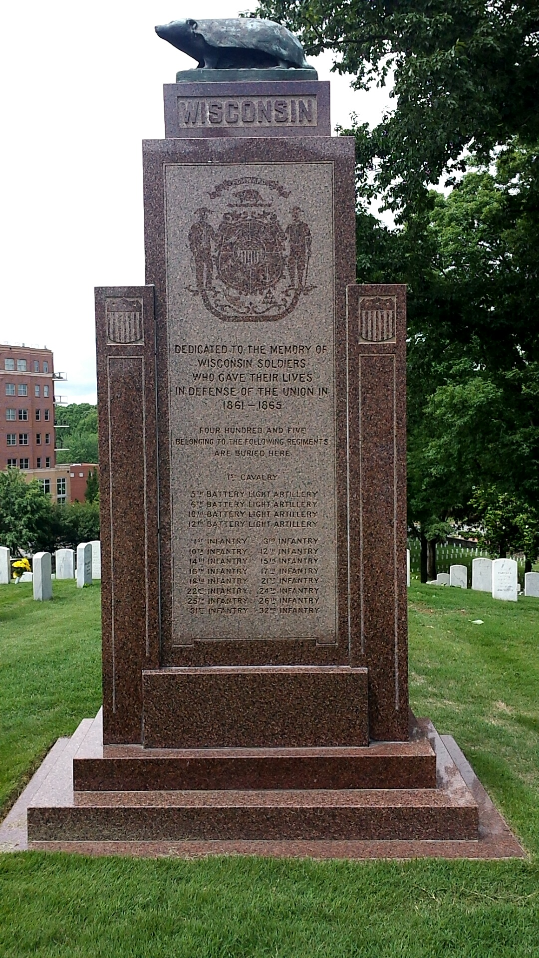 Dedication to the memory of Wisconsin soldiers who had died in battle in the Civil War.