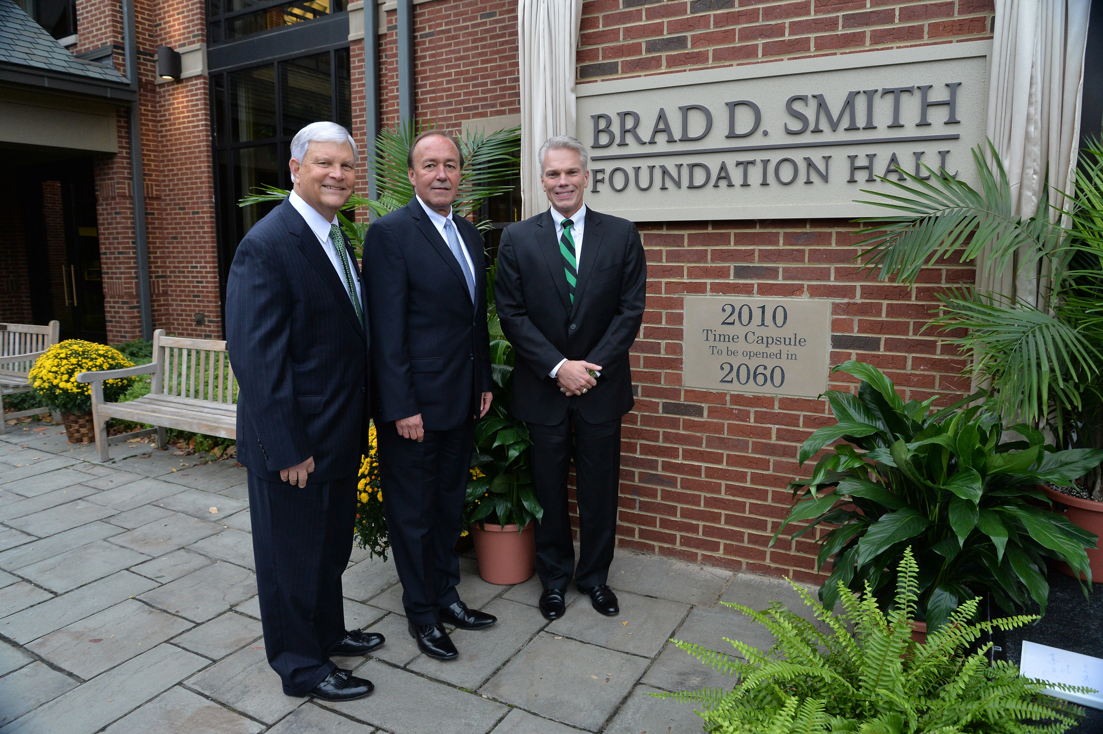 Brad Smith at the dedication ceremony of the foundation hall.