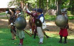 English militia preparing for battle