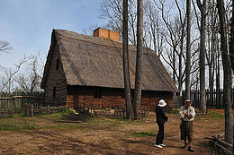 A reconstructed settler's house