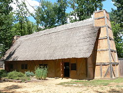 The reconstructed Mt. Malady. This was the first hospital constructed in what is today the United States