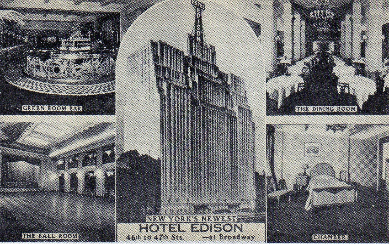 Vintage Postcard of the Hotel Edison