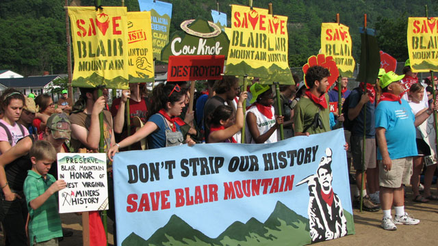 Protest to Save Historic Site from Mountain Top Removal (2011)