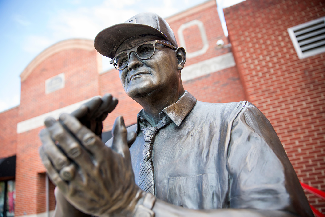 Woody Hayes statue on Lane Ave