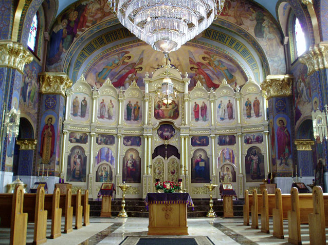 View inside the church. Photo: St. Theodosius Cathedral