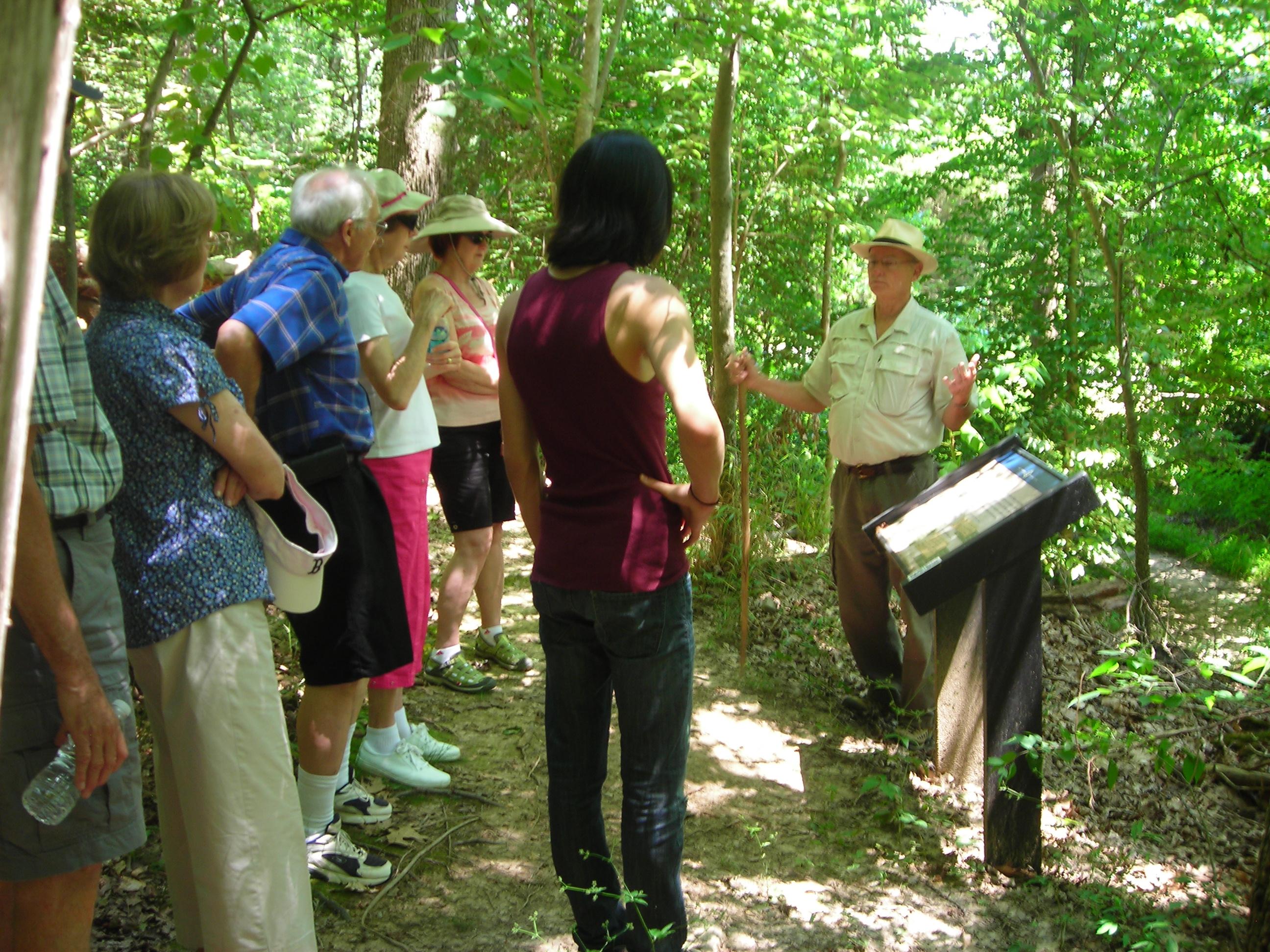 Virginia Master Naturalist volunteer leading a monthly Woodland Hike