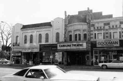 The Carolina Theater in the 1970s