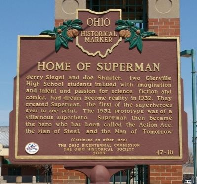 The marker is located at the corner of St. Clair Avenue and 105th street.