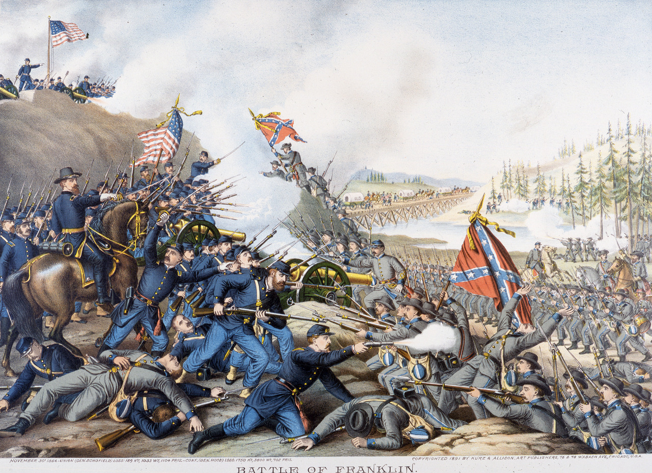 Painting of the Battle of Franklin
