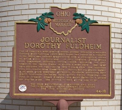 The marker commemorating Fuldheim's life. Photo: Christopher Busta-Peck, via The Historical Marker Database