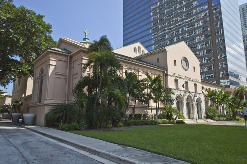 The current church building, from 1949, is a city historical site and listed on the National Register of Historic Places. Image obtained from University of South Florida.