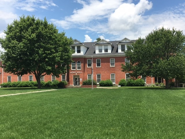 Avery Hall as it appears today from the Quad.