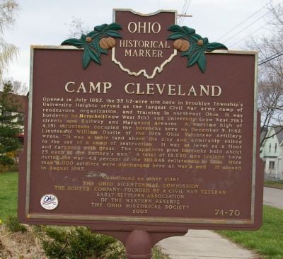 The marker is just up the block from 7th Street, the western boundary of the camp.