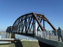 The Big Four Bridge was completed in 1895 and is now open to pedestrian traffic