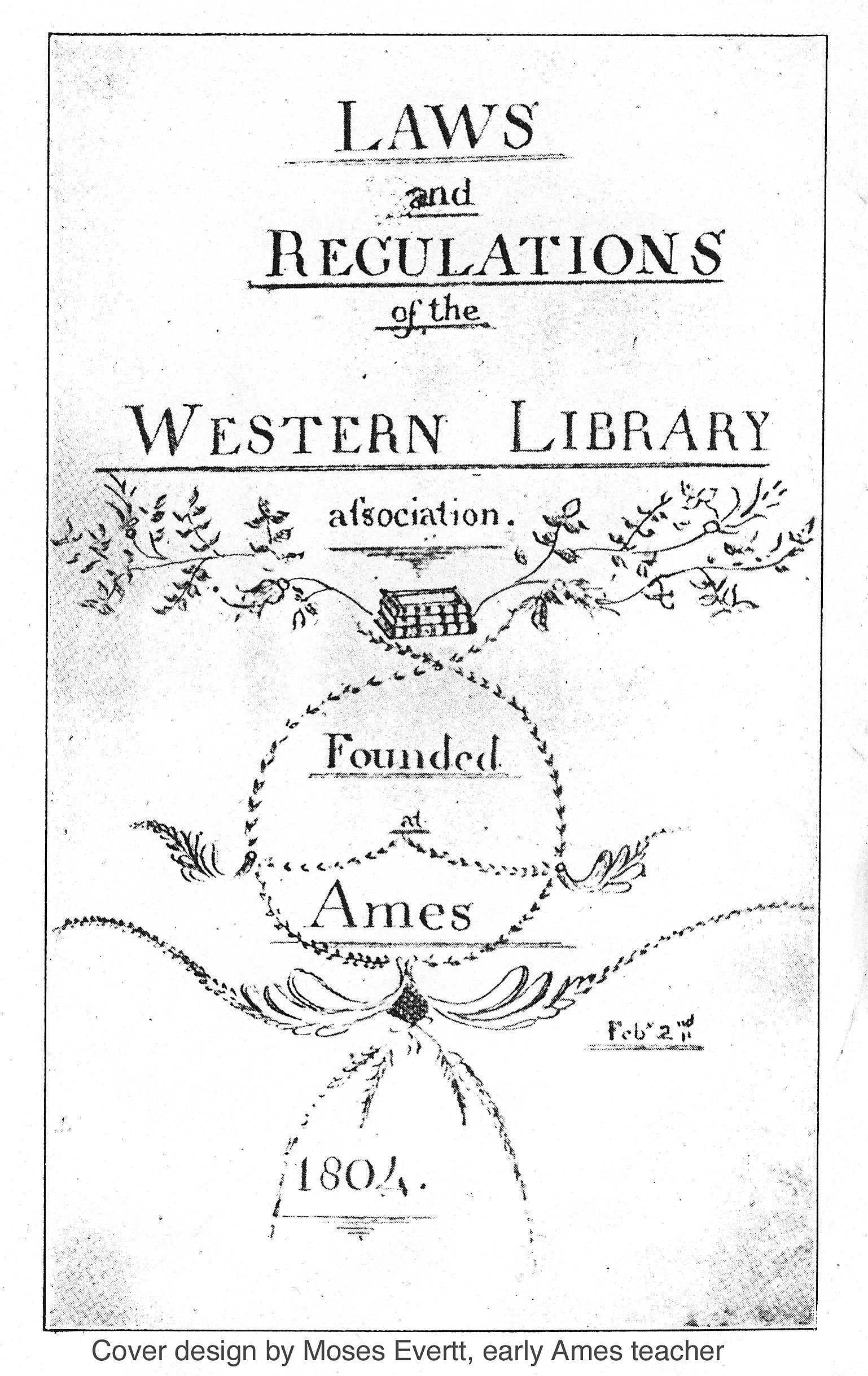 This is the cover of the Western Library Association's record book that Sarah Cutler refers to in her work and is an important primary source in hashing out the dates of the library's founding.  Photo courtesy of the Ohio University website.