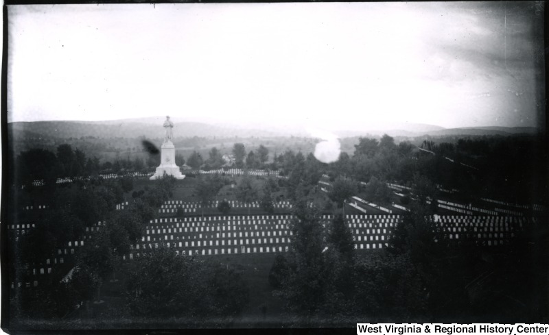 View of Antietam Cemetery and Private Soldier Monument taken 8/5/1884