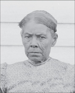 Photograph of Caroline Bradby Cook, Oct. 1899, created by De Lancey W. Gill, NAA INV 06196100 OPPS NEG 00880, Glass Negatives of Indians (Collected by Bureau of American Ethnology), National Anthropological Archives, Smithsonian Institution.