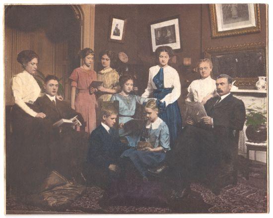 Family Portrait of the Sam Ewing Family in Stirman's Folly