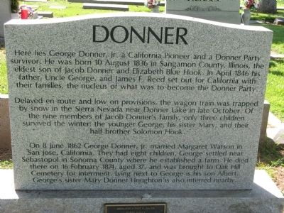The gravesite of George Donner, Jr.