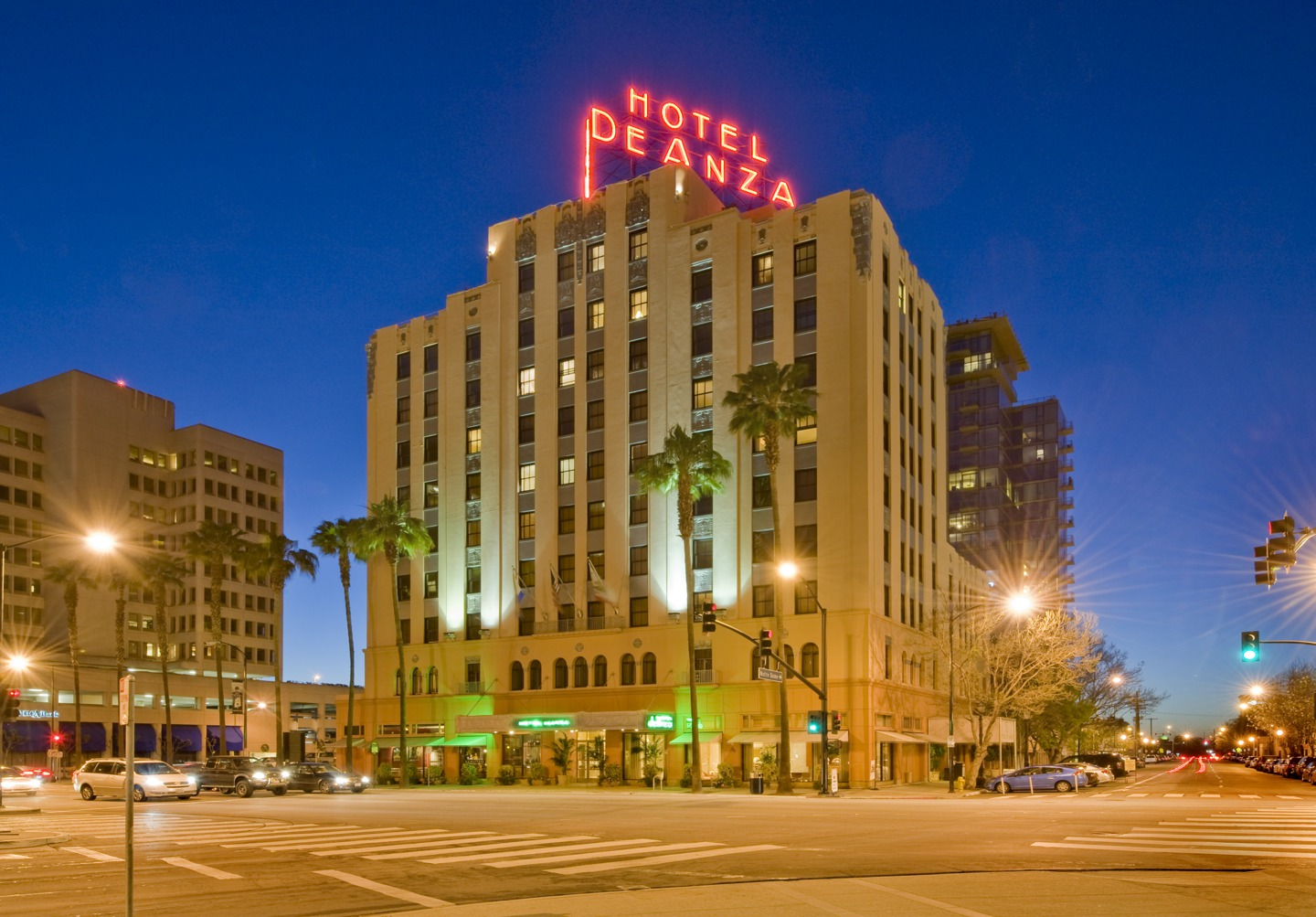 The neon Hotel De Anza sign has been a fixture in San Jose for decades.