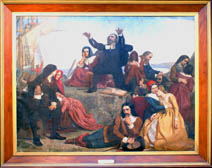The Departure of the Pilgrims from Delftshaven (Courtesy of Pilgrim Hall Museum)