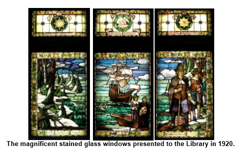 Stained Glass Windows (Courtesy of Pilgrim Hall Museum)