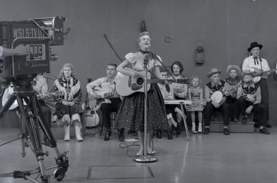 Photograph of Janis Martin performing on Roanoke TV station WSLS, WRVA Radio Collection, Accession 38210, courtesy of the Library of Virginia.