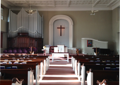 Inside of the Shepherdstown Presbyterian Church