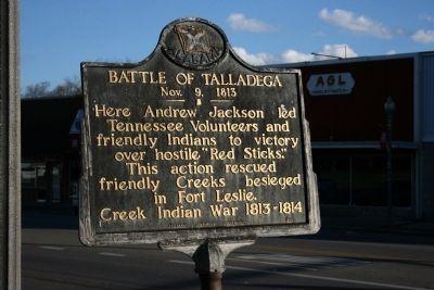 Battler of Talladega Historical Marker