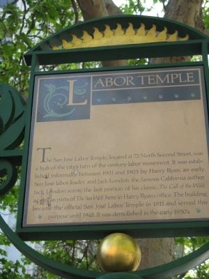 The Labor Temple marker is located just down the street from St. James Park.