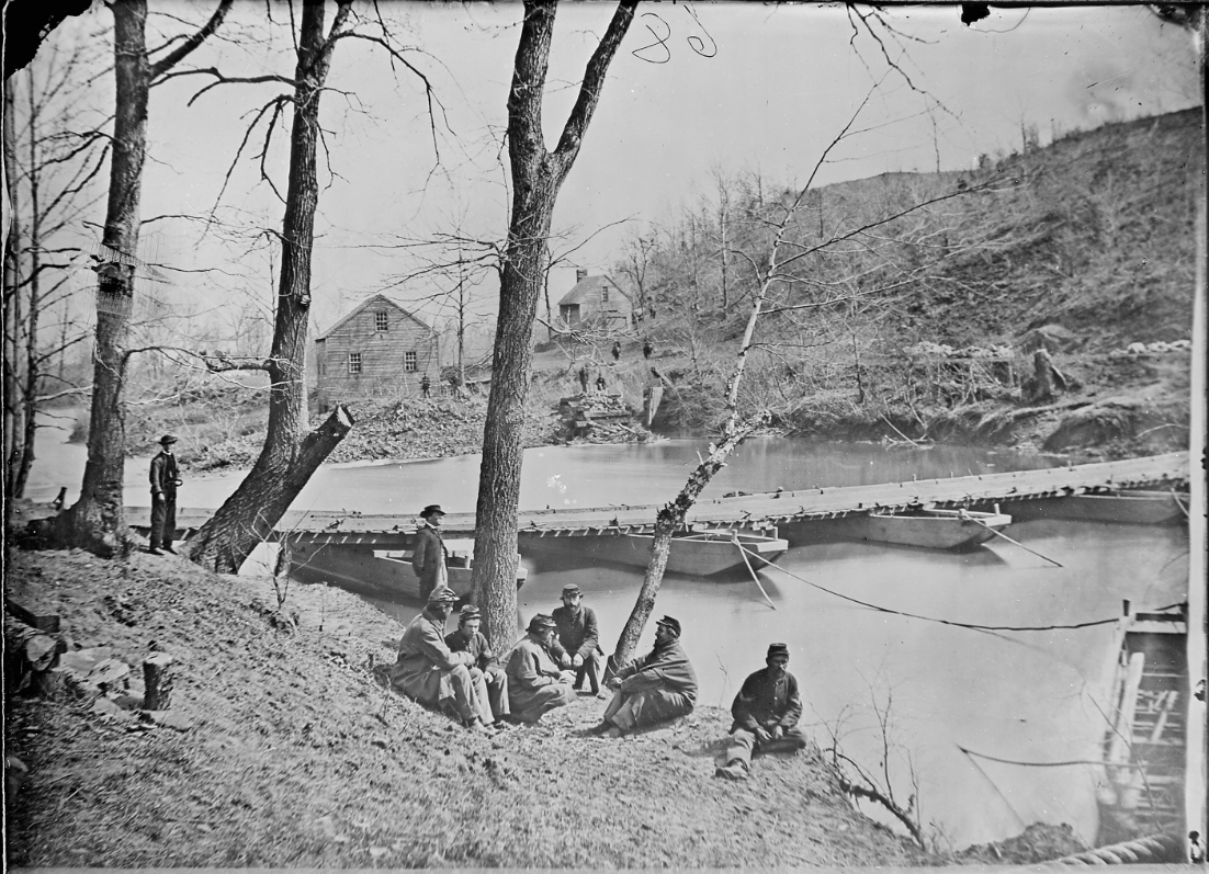 Photo of Blackburn's Ford by Matthew Brady, between 1861 and 1865