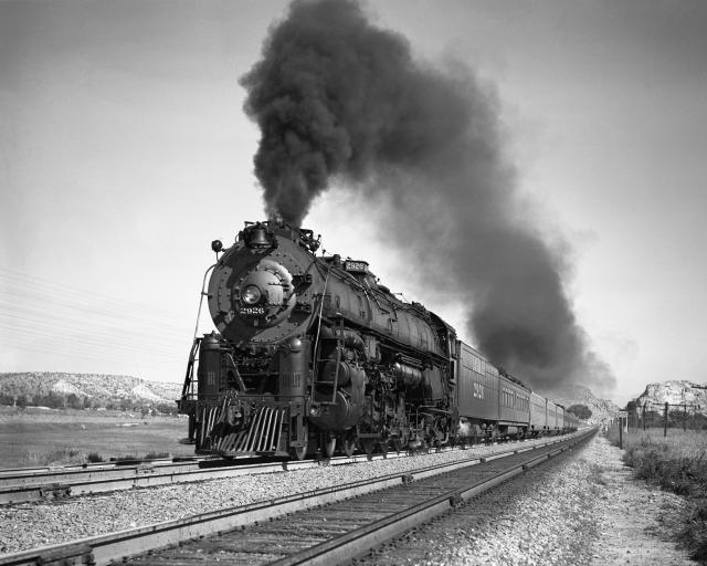 Circa 1949 photo of the locomotive on the move in California