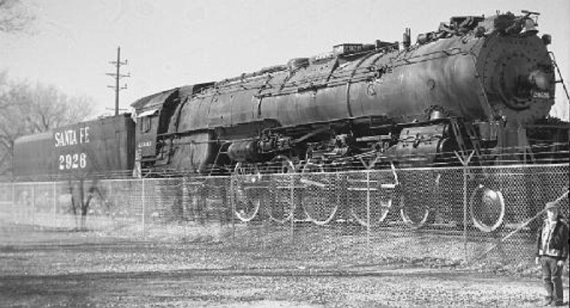 Mid-late 1950s photo of the locomotive in Albuquerque
