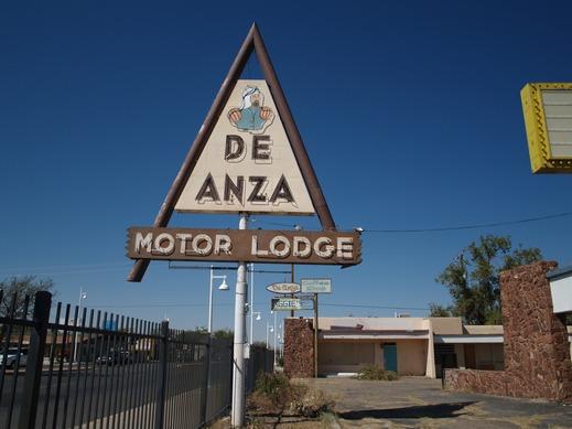 Famed De Anza Motor Lodge sign