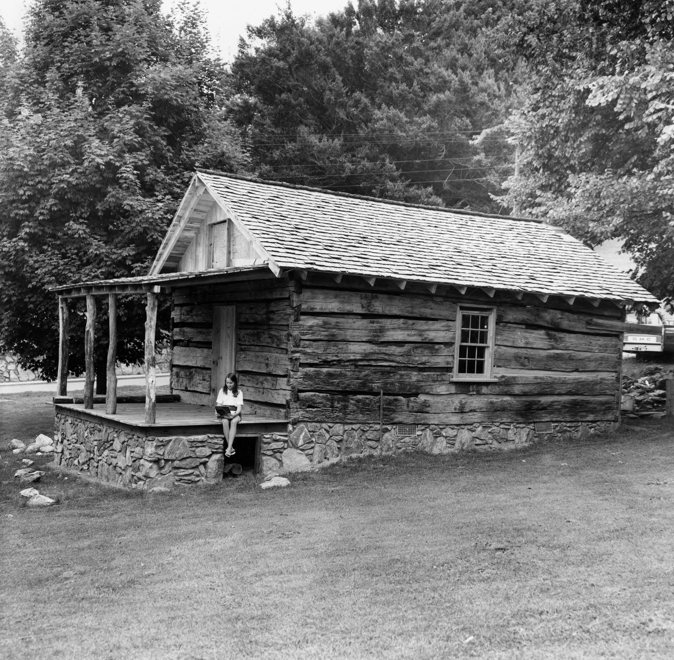 The Heritage Cabin shortly after reconstruction of the structure was completed.
