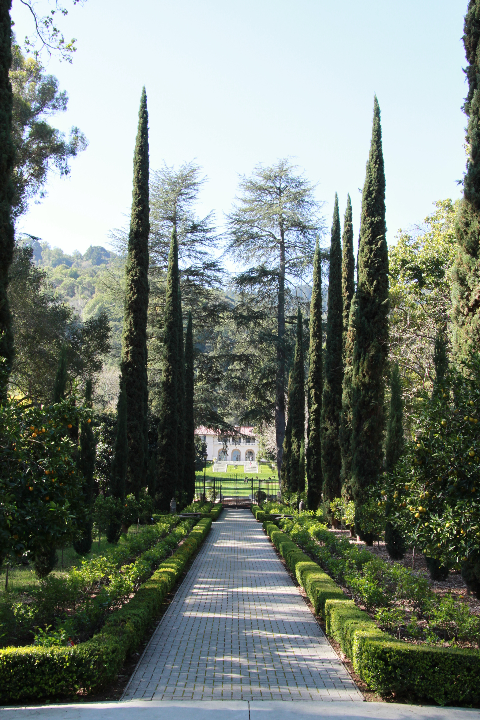 A manicured path leads through the center's Italianate Garden.