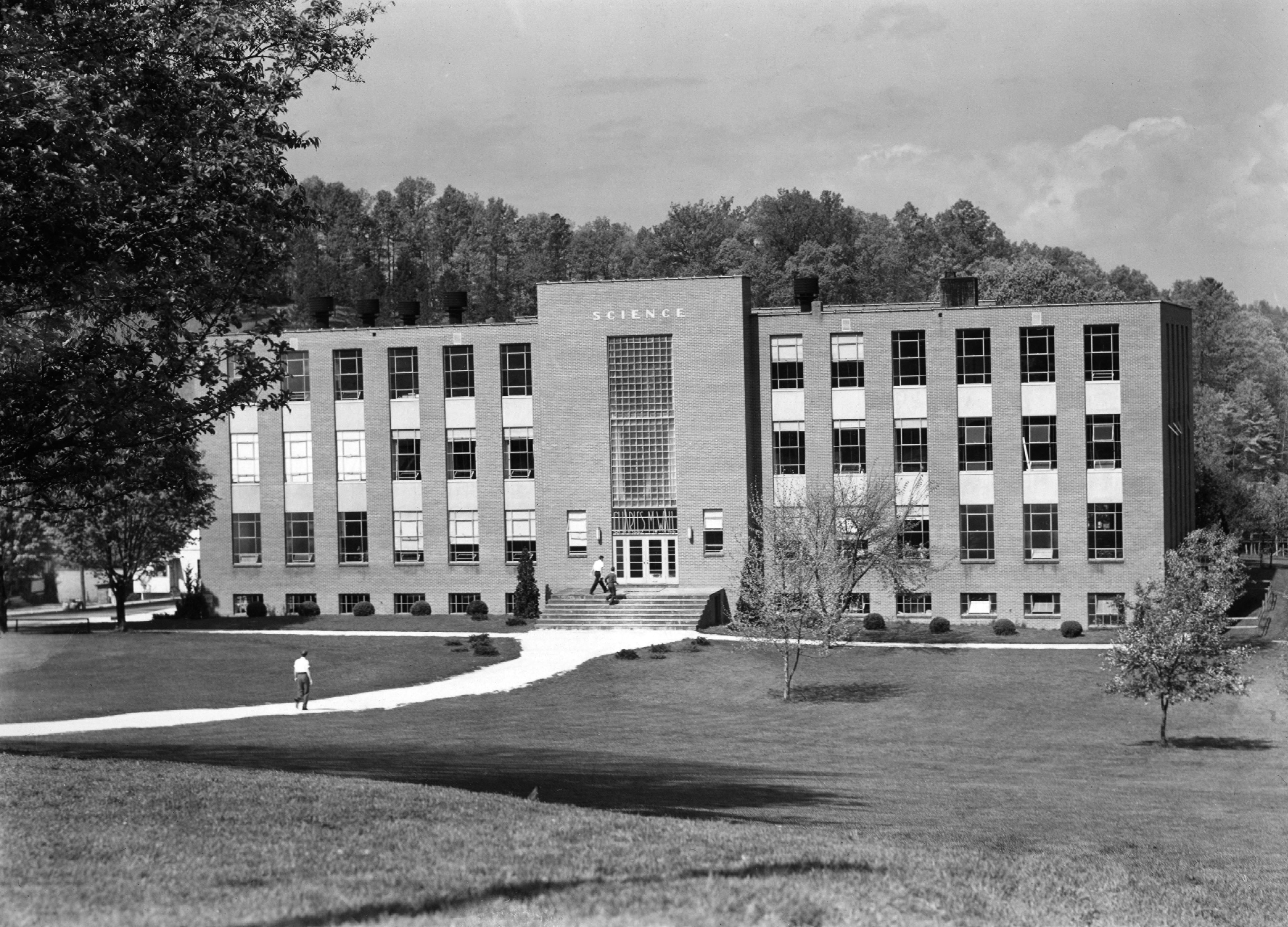 Charles M. Wall Science Building following construction.
